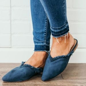 Free People Shoes - Free People Newport Flats Mules Size 10 NEW